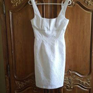 White Brocade Summer Dress